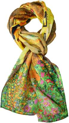 Gustav ELEGNA Women 100% Silk Soft Long Scarf Shawl Klimt's Classic Kiss