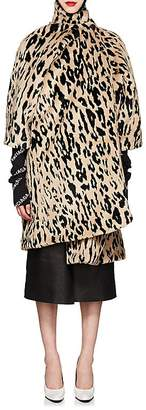 Balenciaga Women's Leopard-Print Faux-Fur Opera Coat