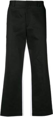 MSGM cropped colour-block trousers