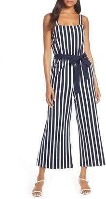 J.Crew Knit Tie Waist Stripe Jumpsuit