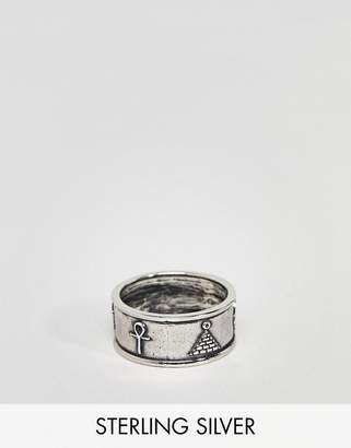 Asos Design Sterling Silver Egyptian Style Ring