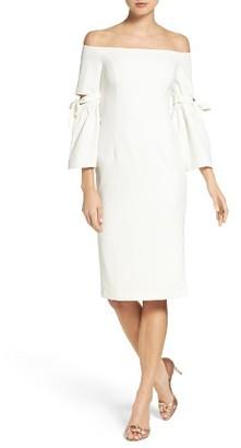 Women's Bardot Tie Sleeve Sheath Dress $129 thestylecure.com