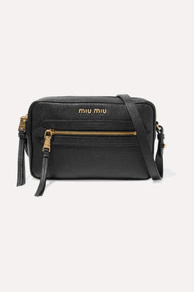 Miu Miu Textured-leather Shoulder Bag - Black