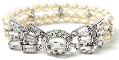 Banana Republic Pearl bow stretch bracelet