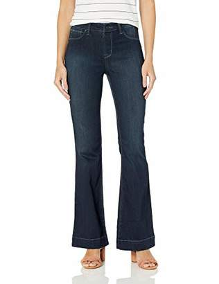 b0c7656bd120e0 Laurie Felt Women's Silky Denim Flare Pull-On Jeans