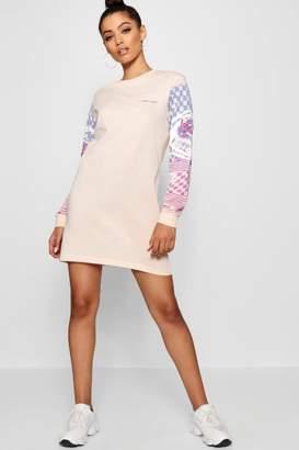 boohoo Motorcross Long Sleeve T-Shirt Dress