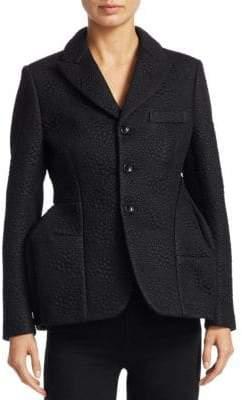 Comme des Garcons Embossed Faux Leather Jacket