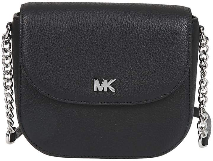 Michael Kors Dome Shoulder Bag - NERO/ARGENTO - STYLE