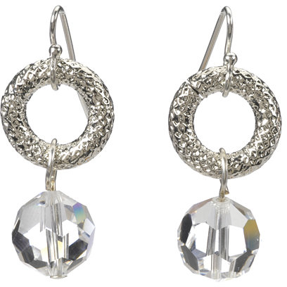 Deborah Grivas Designs Crystal Donut Ring Earrings