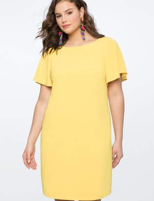Flutter Sleeve Tee Dress