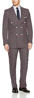 Stacy Adams Men's Sam Double Breasted Suit Window Pane