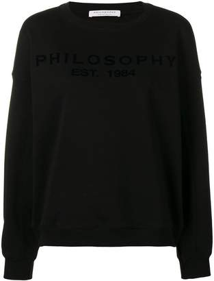 Philosophy di Lorenzo Serafini logo sweatshirt