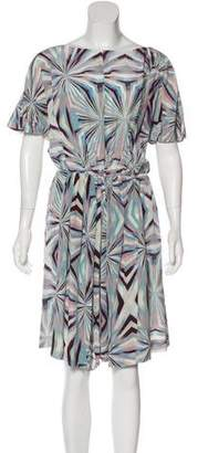 Cacharel Silk Abstract Print Dress