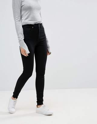 Asos Design DESIGN 'Sculpt me' high waisted premium jeans in clean black