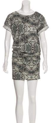Nicole Miller Printed Knee-Length Dress w/ Tags