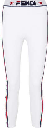 Fendi Printed Stretch Leggings - White