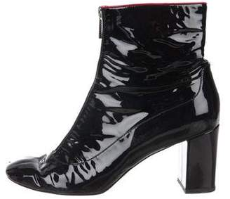 Camilla Elphick Patent 75mm Zip Me Up Ankle Boots