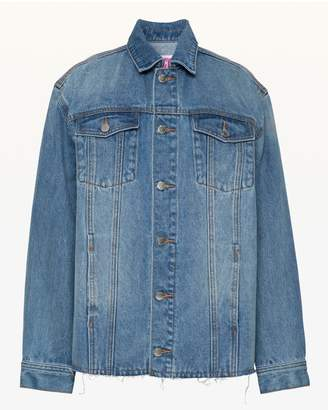 Juicy Couture JXJC Stripe Detailed Oversize Denim Jacket