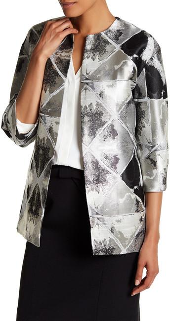 Anne KleinAnne Klein Metallic Jacquard Print Jacket