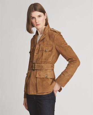 Ralph Lauren Bryn Belted Lamb-Suede Jacket