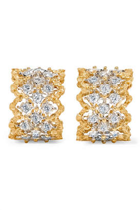 Rombi 18-karat Yellow And White Gold Diamond Earrings