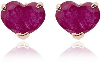 Shay heart 18K gold stud earrings