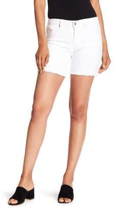 NANETTE nanette lepore Frayed Hem Mid Rise Shorts