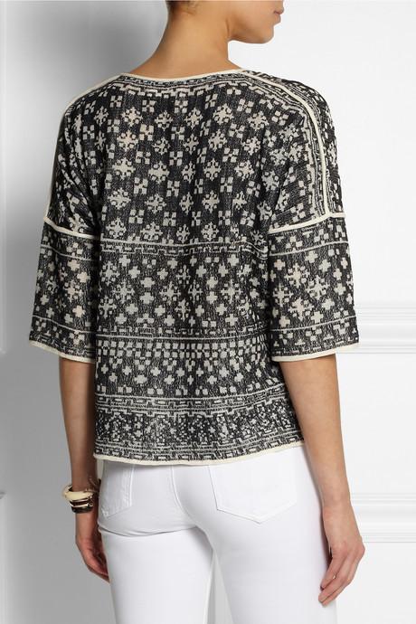 Etoile Isabel Marant Bela intarsia cotton-blend top