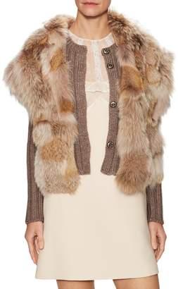 Miu Miu Women's Solid Intarsia Jacket