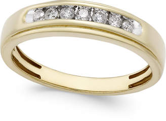 Macy's Men's Diamond Band (1/4 ct. t.w.) in 10k Gold