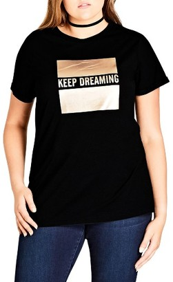 Plus Size Women's City Chic Dreaming Graphic Tee $39 thestylecure.com