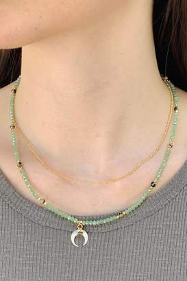Wild Lilies Jewelry Layered Crescent Necklace