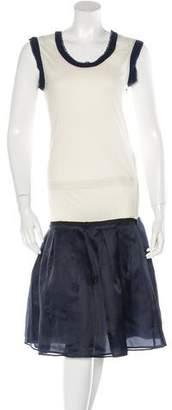 Lanvin Paneled Sleeveless Dress