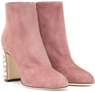 Dolce & Gabbana Vally suede ankle boots
