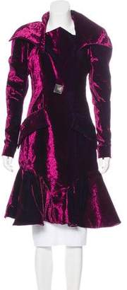 Just Cavalli Velvet Ruffled Coat