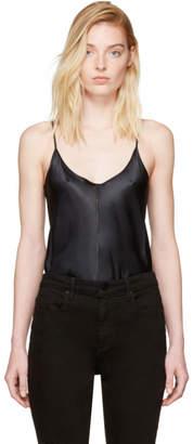 Alexander Wang Black Silk Charmeuse Cami Bodysuit