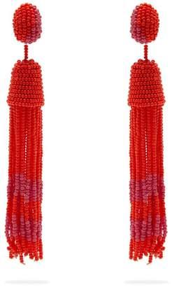 VANDA JACINTHO Beaded tassel earrings