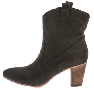 Alberto Fermani Suede Mid-Calf Ankle Boots Grey Suede Mid-Calf Ankle Boots
