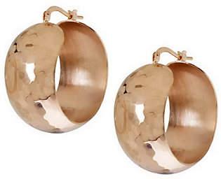 "Bronze 1-1/4"" Bold Round Hoop Earrings by Bronzo Italia"