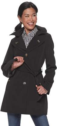 London Fog Tower By Women's TOWER by Double-Breasted Rain Coat