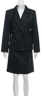 Saint Laurent Vintage Pinstripe Skirt Suit