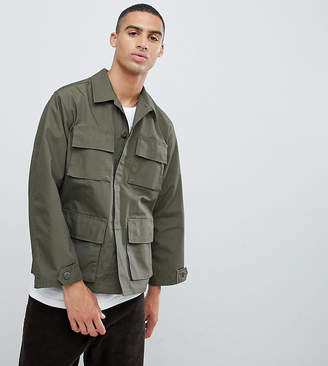 Reclaimed Vintage revived overdye military jacket in khaki