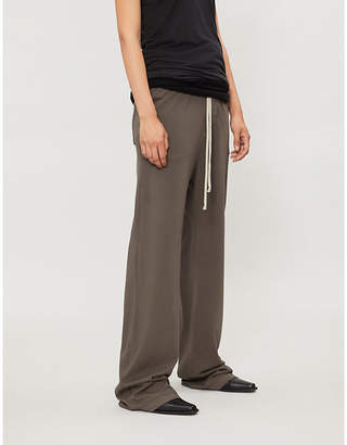 Drkshdw High-rise straight cotton-jersey trousers