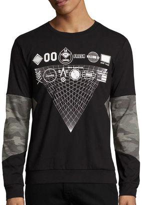 URBAN NATION Urban Nation Long-Sleeve Camo-Print Burnout Shirt $40 thestylecure.com