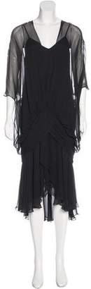 Casadei Draped Midi Dress