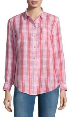 Tommy Bahama Athena Plaid Boyfriend Button-Down Shirt