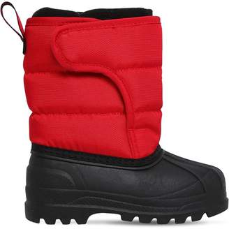Ralph Lauren Childrenswear Logo Nylon Canvas Snow Boots