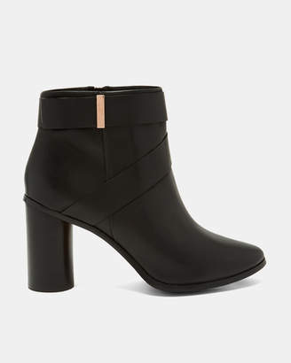 Ted Baker MATYNA Leather circle block heeled boots