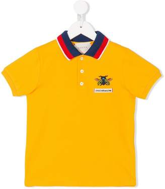 Gucci Kids bee-embroidered polo shirt