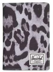 Herschel Raynor Leopard-Print Passport Holder